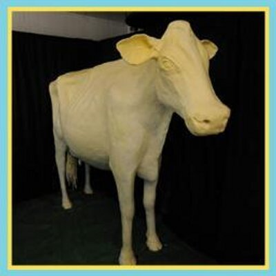 The official Iowa State Fair Butter Cow, who has her own Twitter account.