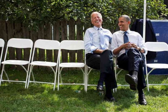 This Pete Souza White House photo shows Biden as we often see him -- with a big smile.