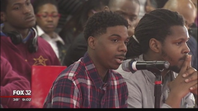 David Elam, 25, was among those testifying at a recent hearing hosted by the Chicago Urban League about youth unemployment. Elam credited a summer job program with getting him out of a gang. He's now a youth organizer with a group called Fathers Who Care.