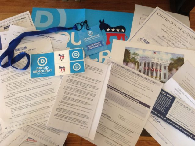 All this money-grubbing garbage arrived in just one day via U.S. mail.