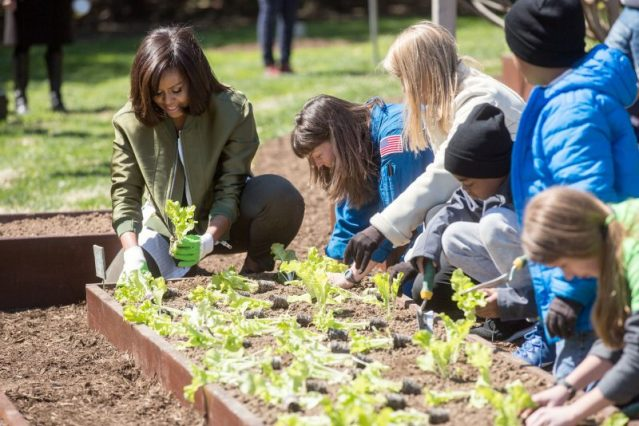 In April, Michelle Obama planted her final White House kitchen garden, along with helpers from local schools—and a few from NASA.
