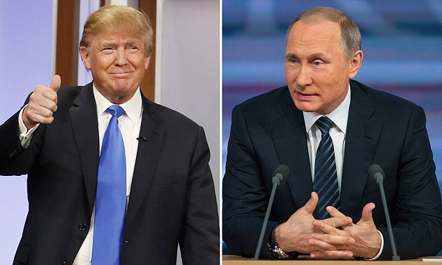 Donald Trump and Vladimir Putin: Best buds to be?