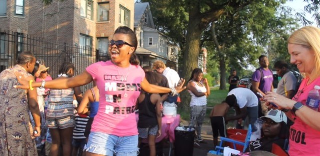 Tamar Manasseh started a mothers' community group to combat gun violence in Chicago's Englewood neighborhood. A year later, there hasn't been one shooting on the block where the group is active. (Photo used with permission from Andrew Gill/WBEZ)