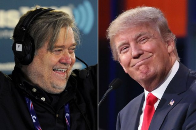 Steve Bannon and Donald Trump: Two peas in a nationalist pod.