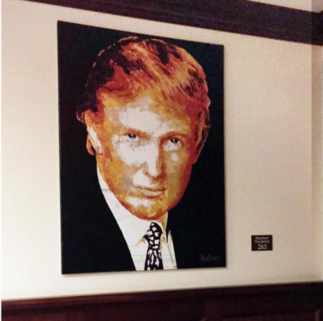 This portrait was bought with Trump Foundation money, yet it hangs in Trump's Doral Resort in Miami.