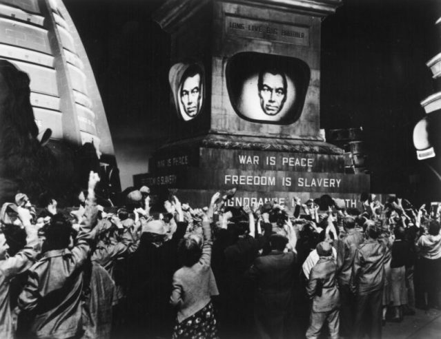 From the 1956 film version of 1984. Post-truth, anyone?