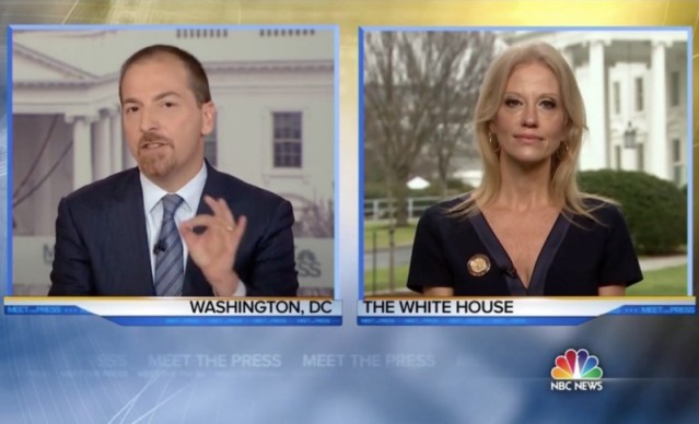 Chuck Todd wasn't buying what Kellyanne Conway was selling.